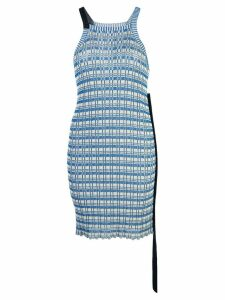 Jil Sander striped knit halterneck tunic - Blue