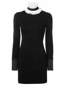 Karl Lagerfeld detachable collar Punto dress - Black