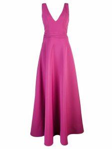 Nha Khanh V-neck gown - Pink