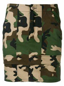 Gcds camouflage print mini skirt - Green