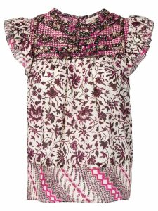 Ulla Johnson floral blouse - Neutrals
