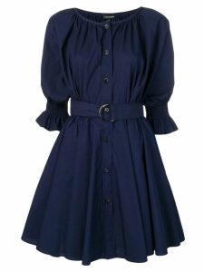 Emporio Armani belted shirt dress - Blue