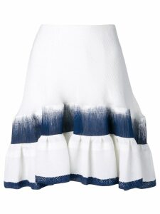 Chloé asymmetric tiered skirt - White