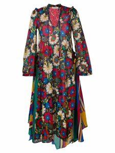 Anjuna floral flared maxi dress - Black