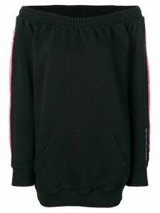 Marcelo Burlon County Of Milan layered sweatshirt dress - Black