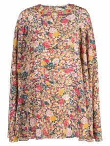 Etro floral print cape dress - Pink