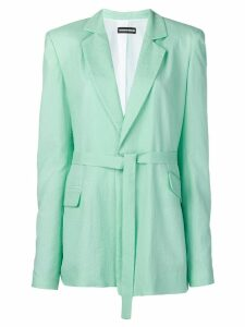 House of Holland waist-tied fitted blazer - Green