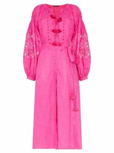 Vita Kin Sunflower linen maxi dress - Pink