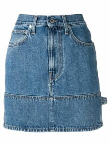 Helmut Lang fitted denim skirt - Blue