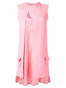 Courrèges split mini dress - Pink