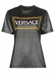 Versace Coated logo print T-shirt - A1008 Black