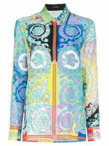 Versace Floral print silk shirt - A7000 Multicoloured