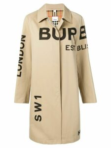 Burberry Horseferry logo print car coat - Neutrals