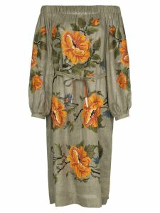 Vita Kin Gypsy Queen off-the-shoulder linen dress - Green