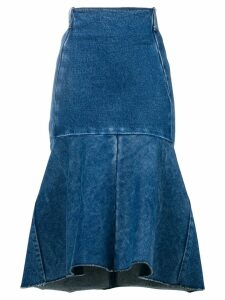Balenciaga Godet peplum-style skirt - Blue