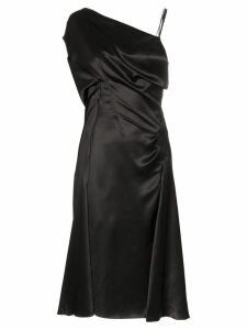 Versace Donna sleeveless one-shoulder silk midi dress - Black