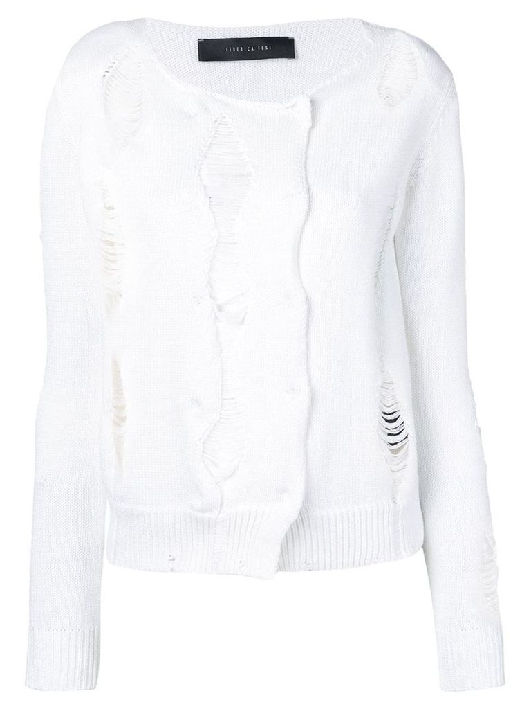 Federica Tosi distressed jumper - White