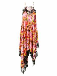 MSGM floral asymmetric cami dress - Pink