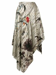Vivienne Westwood asian peony asymmetric skirt - Grey
