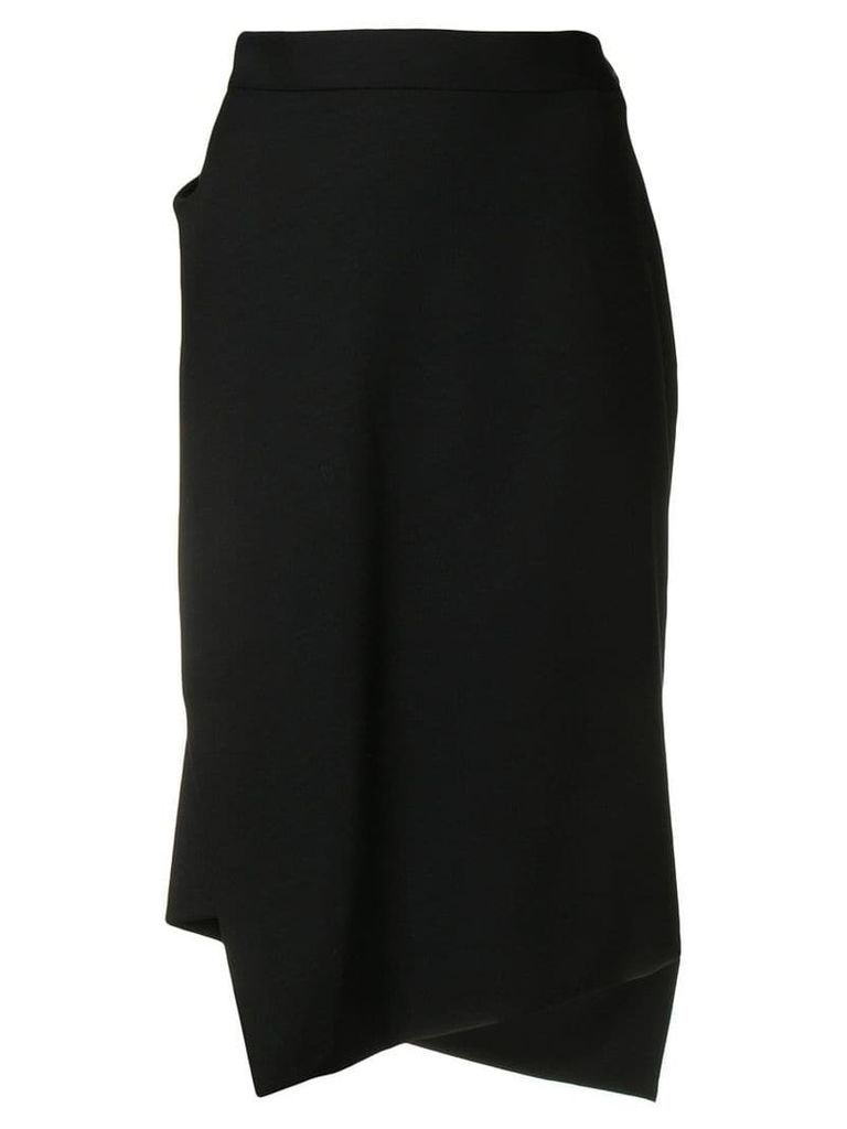 Vivienne Westwood Anglomania asymmetric slim midi skirt - Black