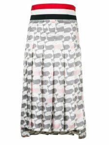Thom Browne Supersized Waistband Whale Skirt - Grey