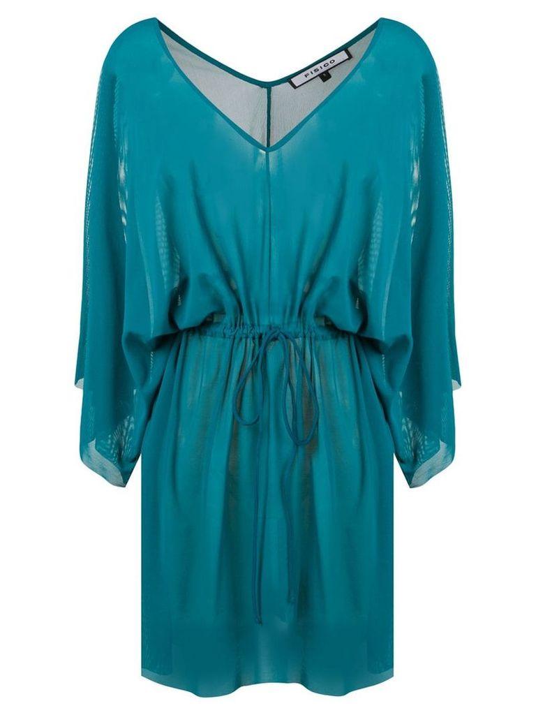 Fisico drawstring waist dress - Blue