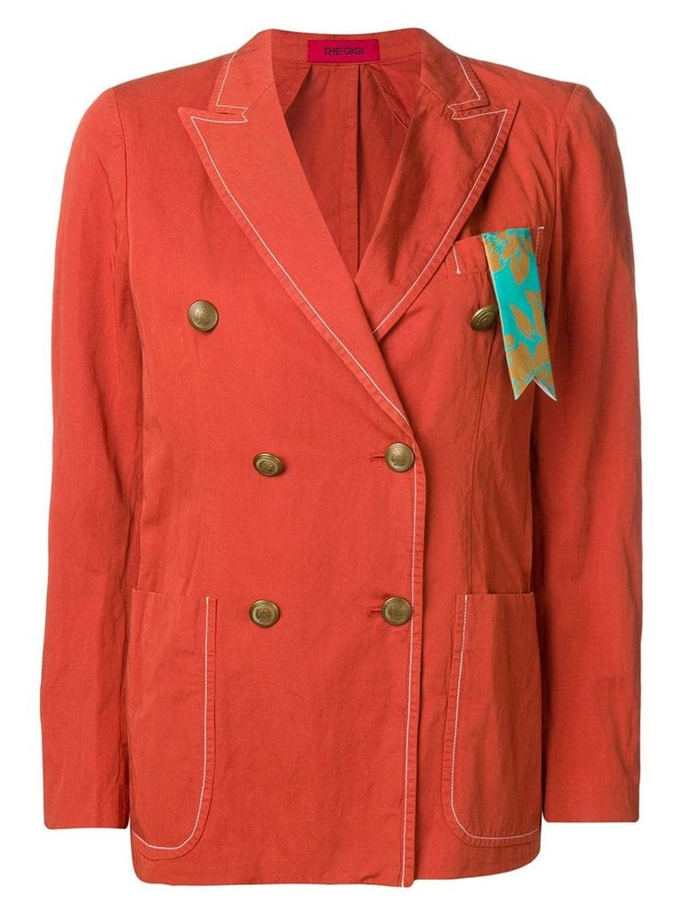 The Gigi double-breasted blazer - Red