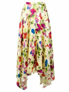 Saloni Lemon Poppies skirt - Yellow