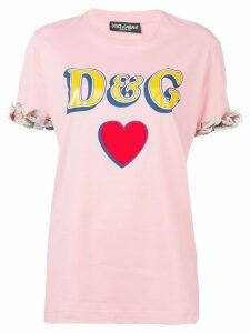 Dolce & Gabbana logo print T-shirt - Pink