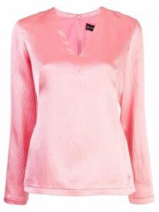 Brandon Maxwell textured blouse - Pink