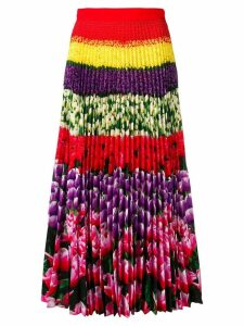 Mary Katrantzou Flower Field pleated skirt - Pink