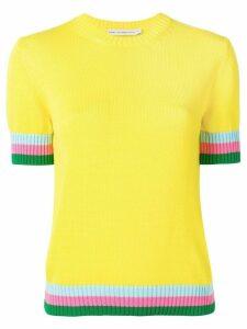 Mary Katrantzou contrast knit top - Yellow