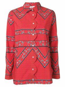 Ganni patterned shirt - Red