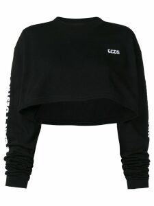 Gcds cropped logo sweatshirt - Black