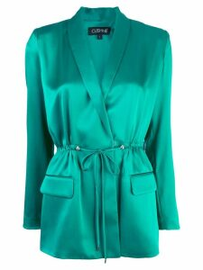 Cushnie drawstring blazer - Green
