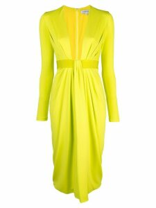 Cushnie plunging V dress - Green