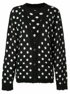 RtA polka dot print cardigan - Black