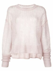 RtA striped crocheted sweatshirt - Purple