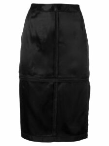 Mm6 Maison Margiela zip panelled pencil skirt - Black