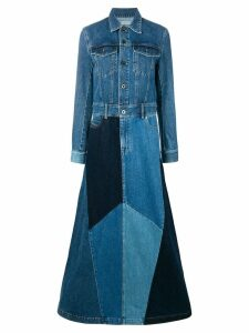 Diesel Black Gold long patchwork denim dress - Blue