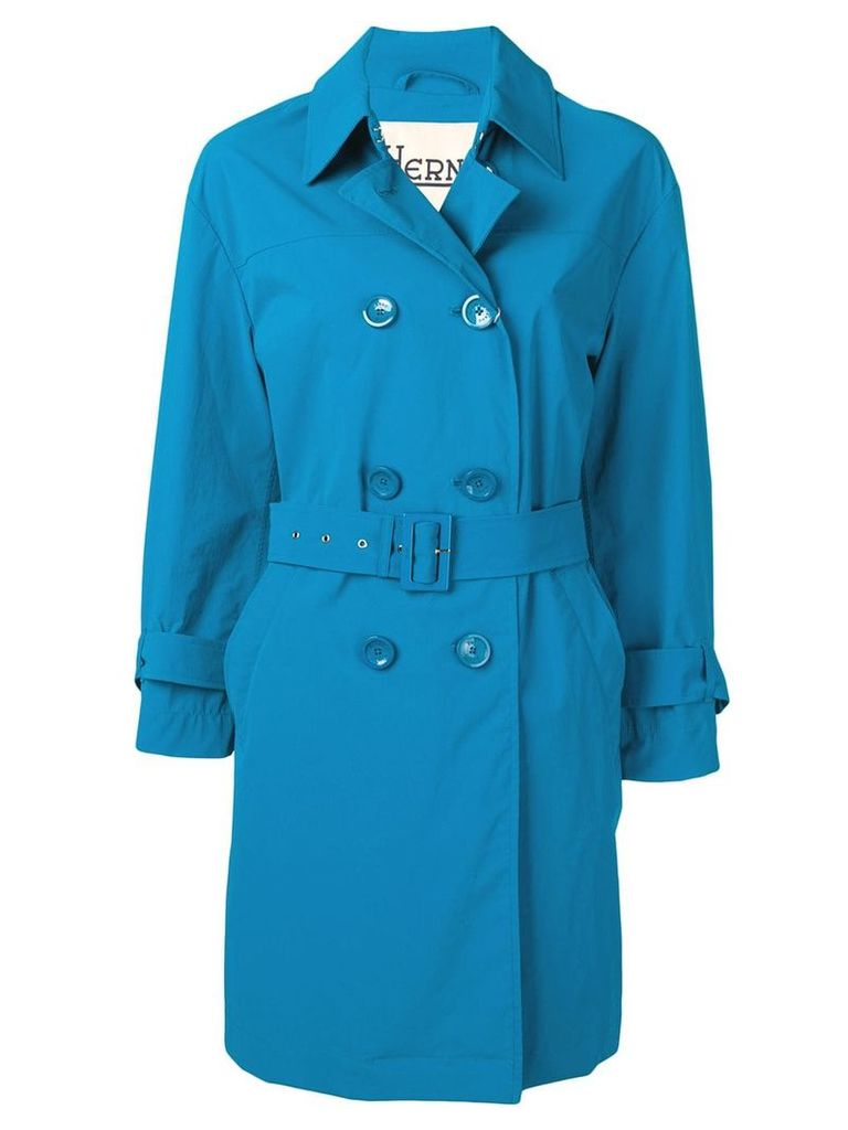 Herno belted trench coat - Blue