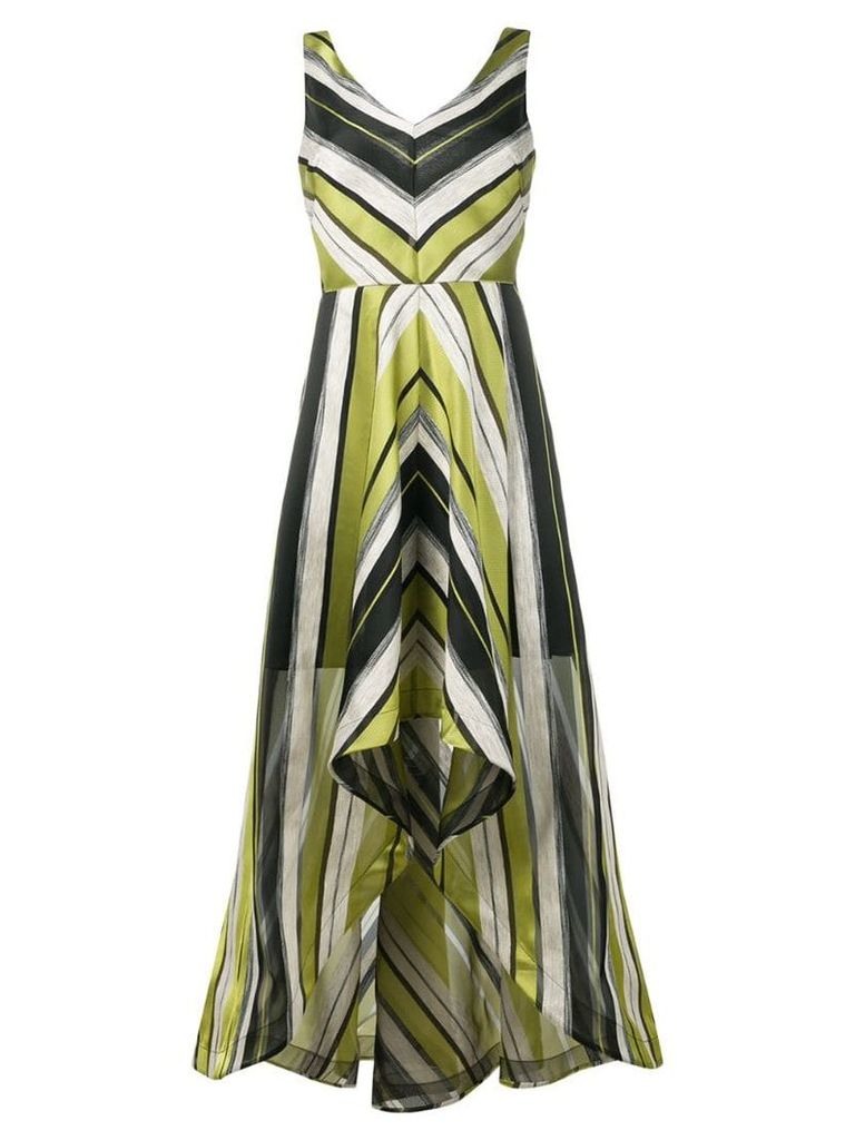 Sara Roka Karina striped high-low dress - Green