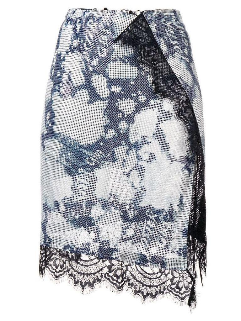 Poster Girl Brandy wrap skirt - Blue