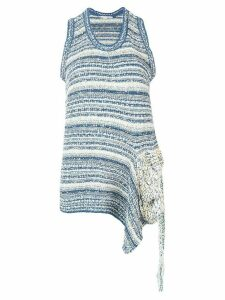 Stella McCartney deconstructed knit top - Blue
