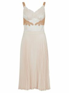 Burberry Lace Trim Cut-out Panel Slip Dress - Neutrals