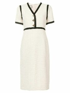 Gucci contrast trim midi dress - Neutrals