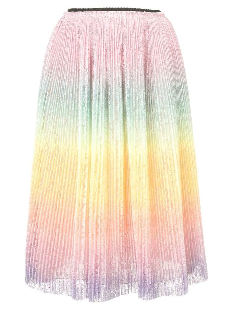 Marco De Vincenzo micro pleated lace skirt - Pink