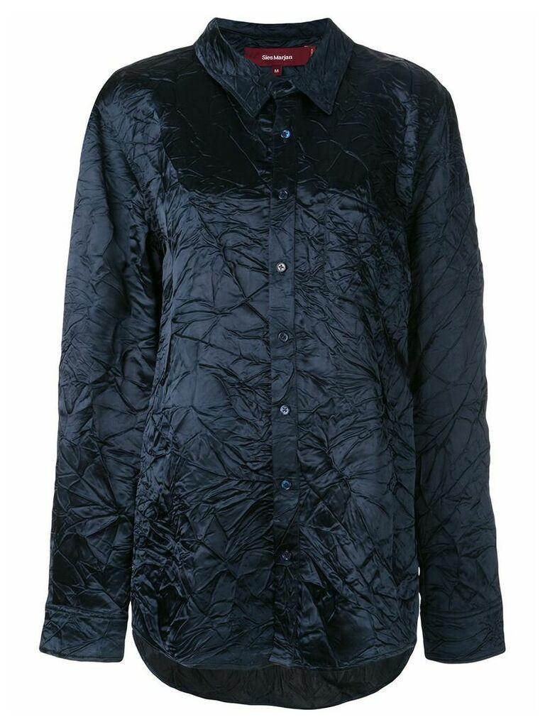Sies Marjan creased longline shirt - Blue
