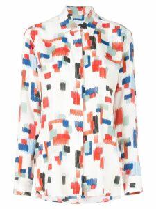 Rosetta Getty geometric print button-up shirt - White