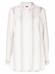 Sies Marjan stripe detail button-up - White